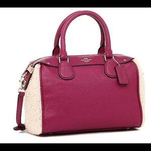 Coac mini bennet shearing cranberry nwt satchel